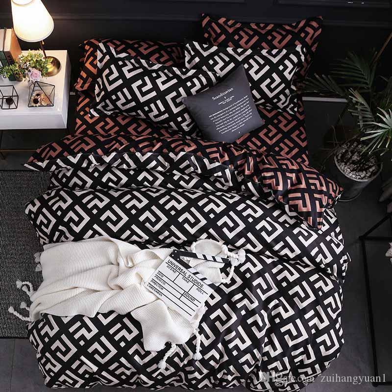 2019 새로운 럭셔리 Beding 이불 커버 침대 시트 베갯잇 침대 커버 침구 세트 침대 린넨 홈 섬유 3pcs