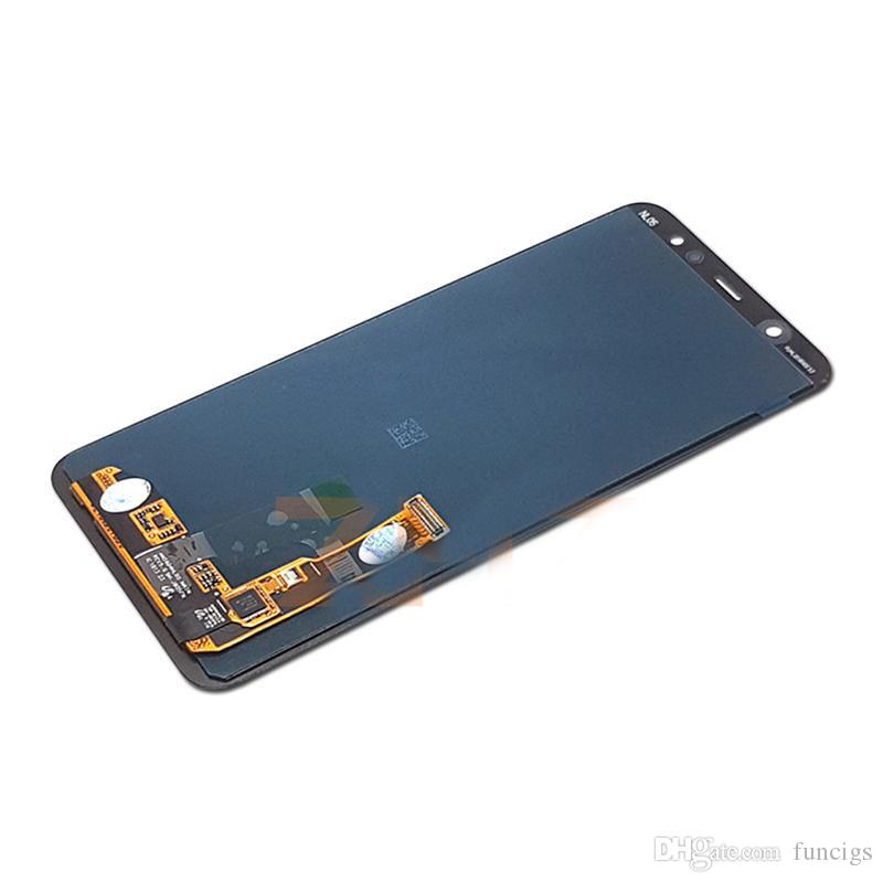 for Galaxy A6+ 2018 LCD Screen Mobile Phone and Digitizer Full Assembly Color : Black TFT Material Black