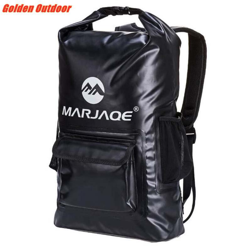 Quality PVC Waterproof Dry Backpack 20L Outdoor Foldable Trekking Bag Storage Dry Sack Bag For Man Women Swimming Rafting Kayak