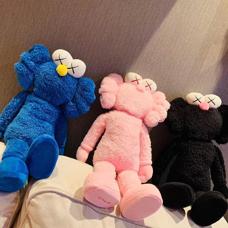 KAWS bff Peluche Sesame Street Figure Decorazione giocattoli ragazze regali Collezione cuscino 50 centimetri altezza con scatola regalo marea giocare No 1