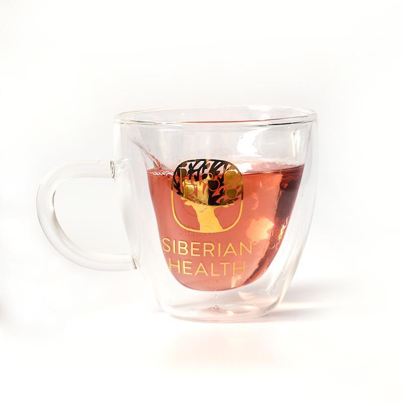 Стекло с двойной изоляцией творческой ручки группы чашки домашнего молока фруктового сок стекло офис одного высоких боросиликатным Кубок цветов