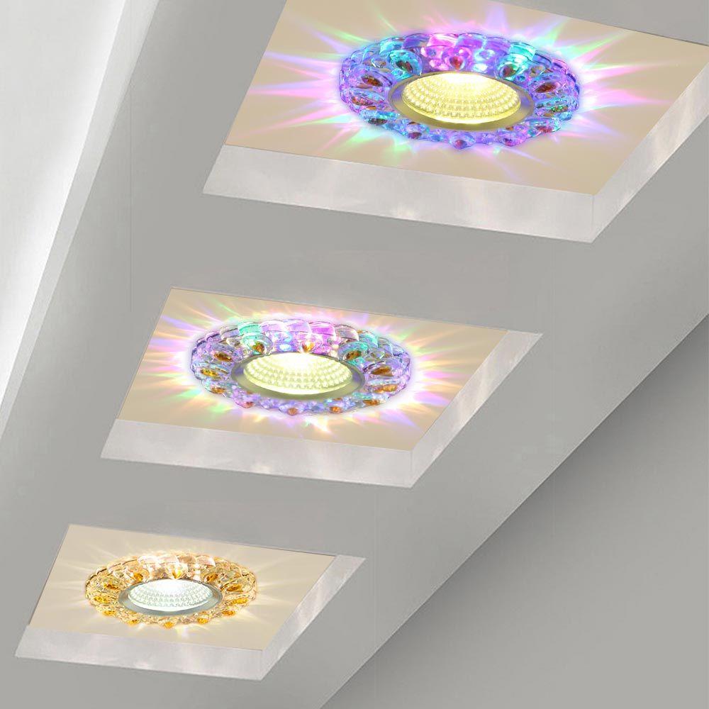 2020 5W LED كريستال راحة السقف ضوء أبيض دافئ + RGB 3 طرق البسيطة أسفل مصباح Luminarias الضوء على الممر ممر مطبخ 85-265V