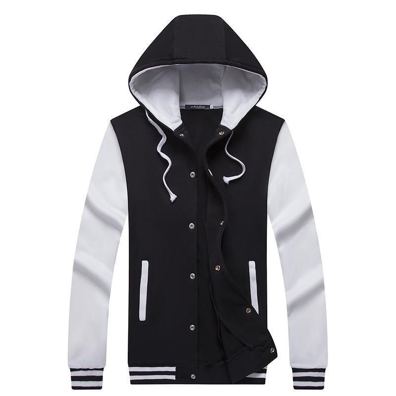 UK Mens Sweatshirt Pullover Soild Casual Hoodie Hooded Sweat Slim Fit Jacket