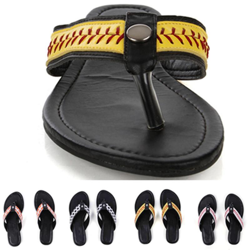 New Summer Slippers Brown Softball