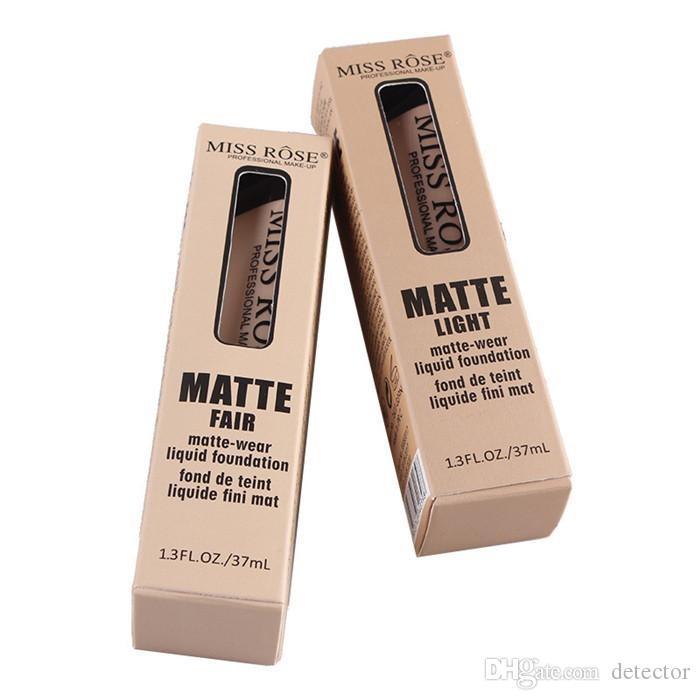2019 Professional Base Matte Foundation Makeup Face Concealer Liquid Foundation MISS ROSE Cosmetic 37ml 10 Colors