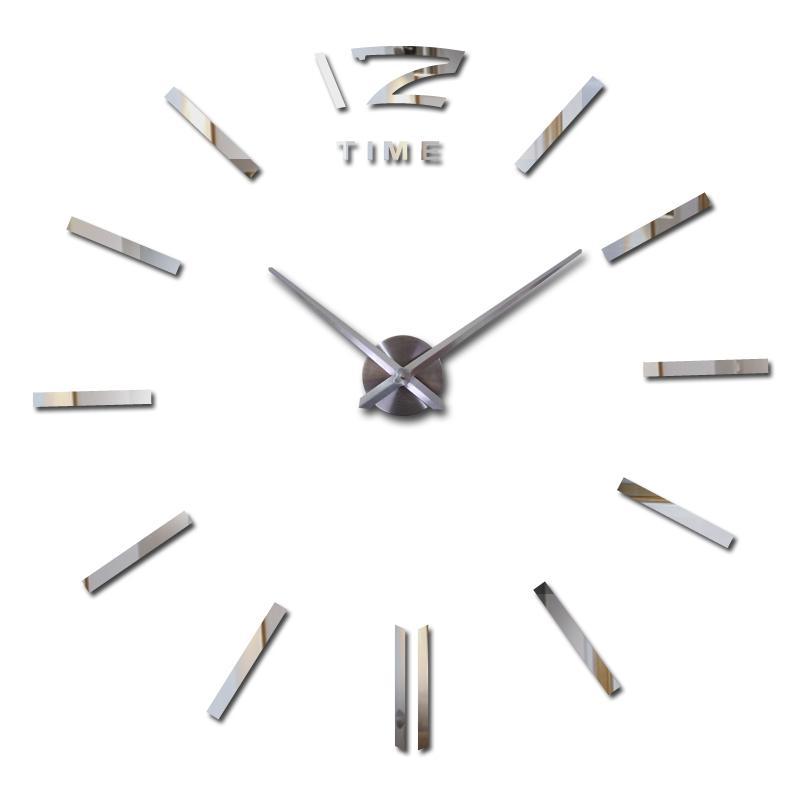 yeni varış Kuvars saatler Kısa 3d gerçek büyük duvar saati koştu ayna Yine çıkartmaları diy salon DISCOUNTS hayatını saatler