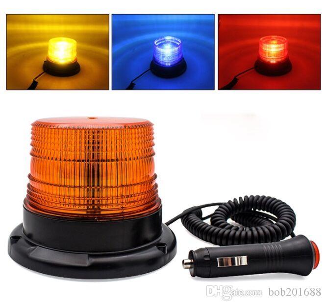 12W ambra emergenza Lampeggiante lampeggiante magnetico per camion veicolo con 12V-80V Cigarette luce Plug BLEF-E3-L