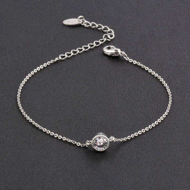 SINLEERY simple tournesol Réglable Bracelet Pour Les Femmes Rose Or Argent Couleur Inlay cristal belle Bracelet Bijoux ps0232