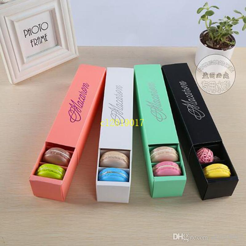 6 Farben Macaron Verpackung Hochzeit Süßigkeiten Gefälligkeiten Geschenk Laser Papier Boxen 6 Gitter Pralinen Box / cookie box