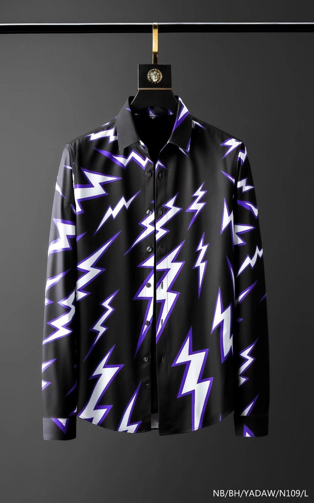 Camicia di design della camicia di marca Mens Camicia francese Parigi Abiti da marca 105 Uomo maschile Camicia a maniche lunghe stile hip hop stile di alta qualità cotone 2019 Nuovo arrivo