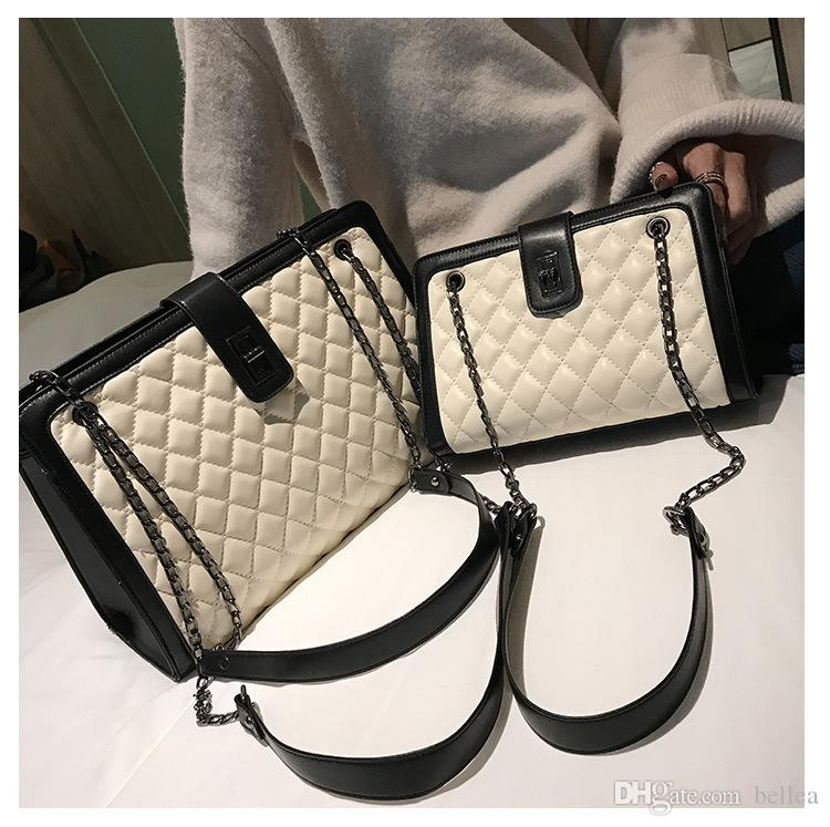 Gesteppte Tasche Set Frauen 2019 Leder Tote Kette Designer Lady Crossbody Fashion High Capacity Shopper Marke Handtasche Luxus