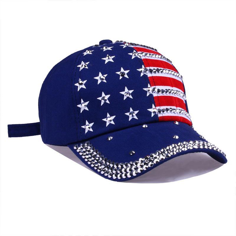 ترامب 2020 برشام قبعات الرئيس القبعات جعل أمريكا كبيرة الماس بلينغ ستار العلم قبعة بيسبول السفر شاطئ الشمس قبعة للجنسين snapbacks GGA2337