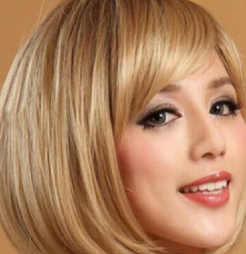 LL 002804 Son Yeni Kısa Koyu Sarışın Kadının saç Peruk