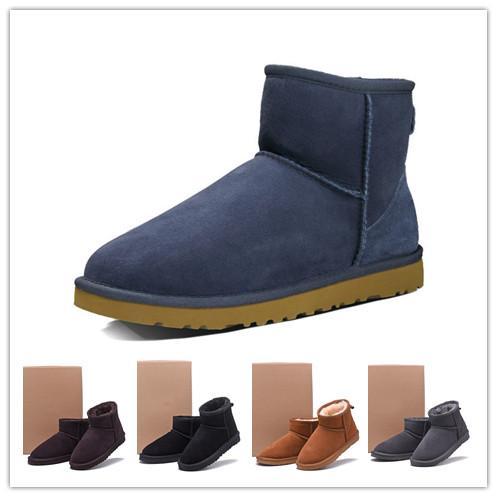 2019 diseñador de moda botas de nieve del invierno WGG botas para mujer de Australia corta clásica tobillo Negro Gris Castaño botas azules muchacha de las mujeres de Estados Unidos 5-10