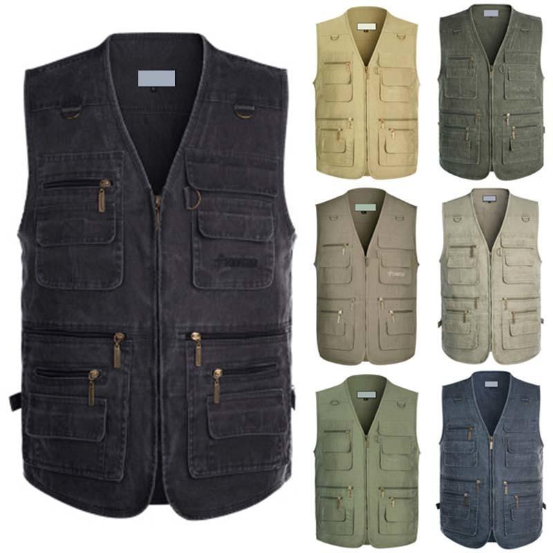 2019 Denim Gilet Hommes Veste sans manches en coton Casual Male Jean Gilet Manteau d'extérieur Slim Fit poches Cowboy Plus Size 5XL T200117