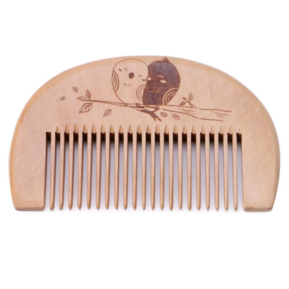 W6087 Bois Barbe de Peigne hommes peigne anti-statique Homme Mini visage Barbe cheveux peigne de massage en bois Peigne Bois Cheveux Madeira Cabelo Pente