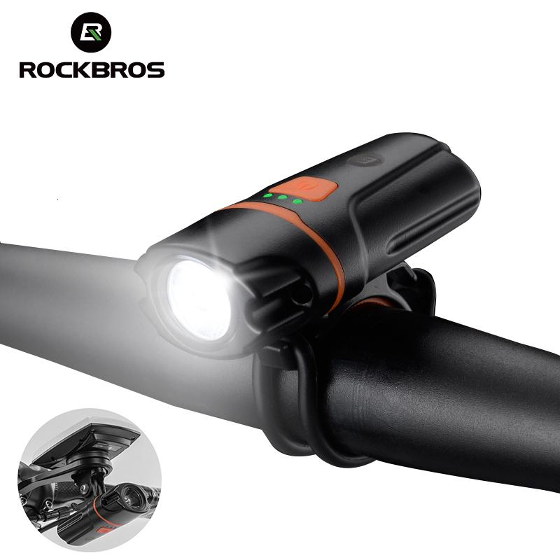 ROCKBROS Bicycle Front Rechargeable Light Cycling Bike Flashlight Waterproof Headlight Bicycle Lamp Power Bank Bike Accessories T191108