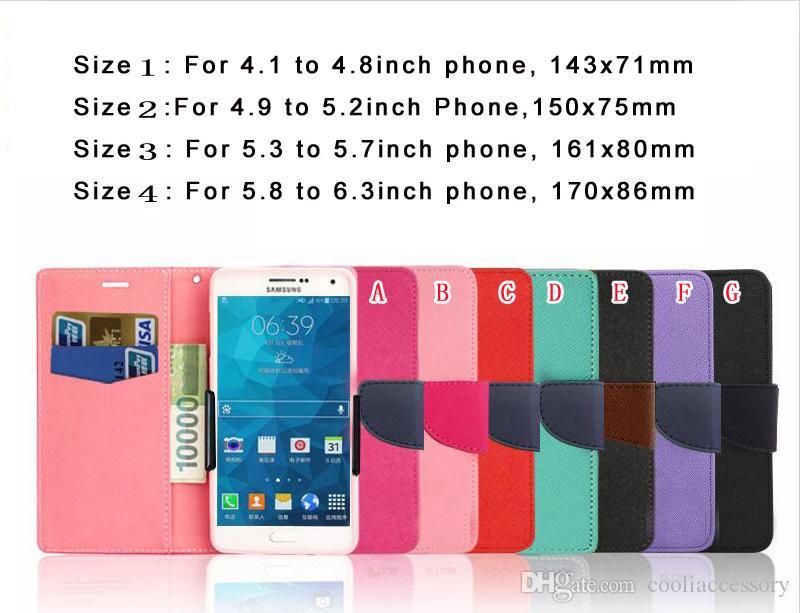 Универсальный бумажник кожаный чехол для 4,1 до 6,3 дюйма подставка для мобильного телефона с гнездом для карт вертикальная зернистая откидная крышка 50шт