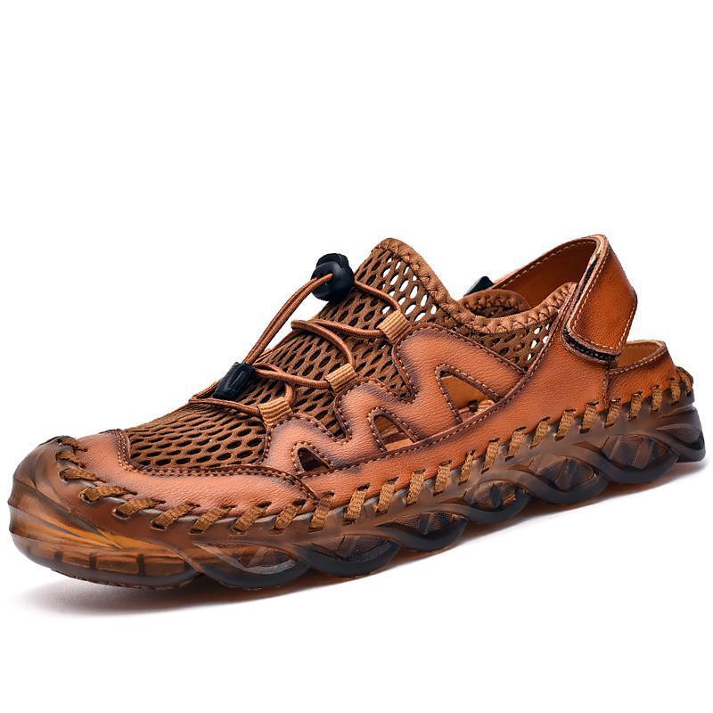 Sandalias de hombre clásico Sandalias Hecho a mano para hombre Sandalias de playa de estilo romano Gladiador al aire libre para hombre