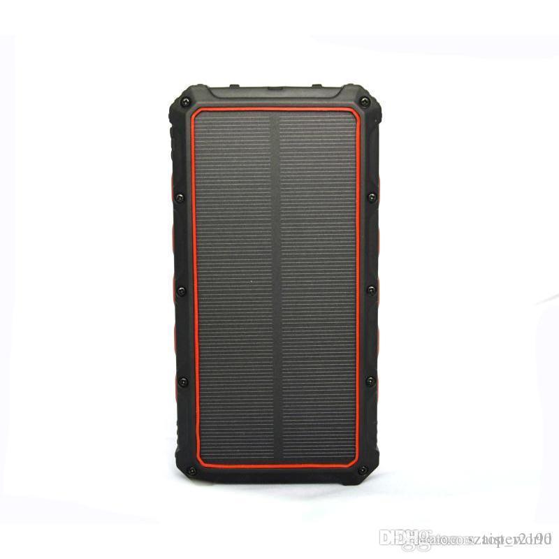 태양 광 전원 은행 16000mAh 휴대용 방수 충전기 PowerBank 듀얼 USB 외부 배터리