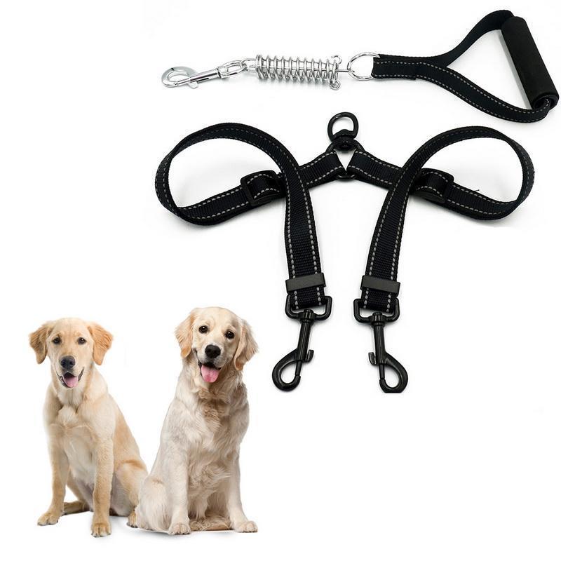 Dozzlor Pet Dog Leash chumbo Collar Nylon Dog Elastic Belt Traction Rope principal dobro Chumbo Treinamento ajustável