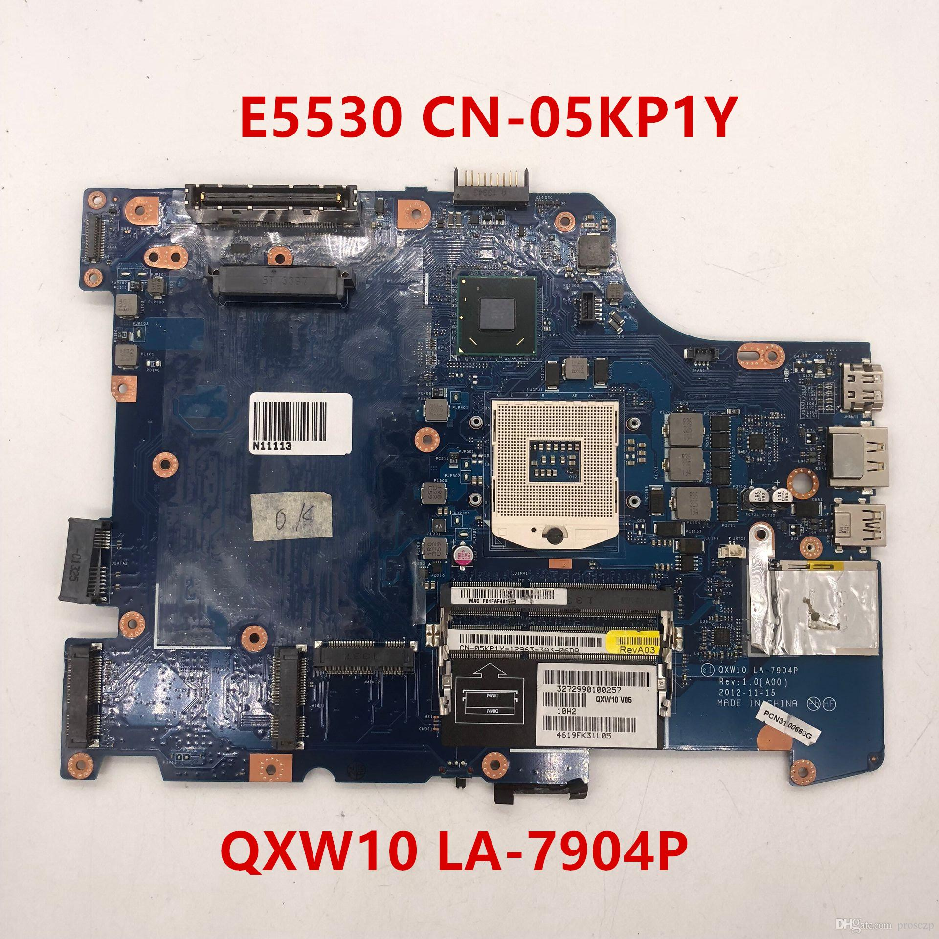 Free shipping for E5530 Laptop Motherboard 5KP1Y LA-7904P 05KP1Y CN-05KP1Y 100%Tested