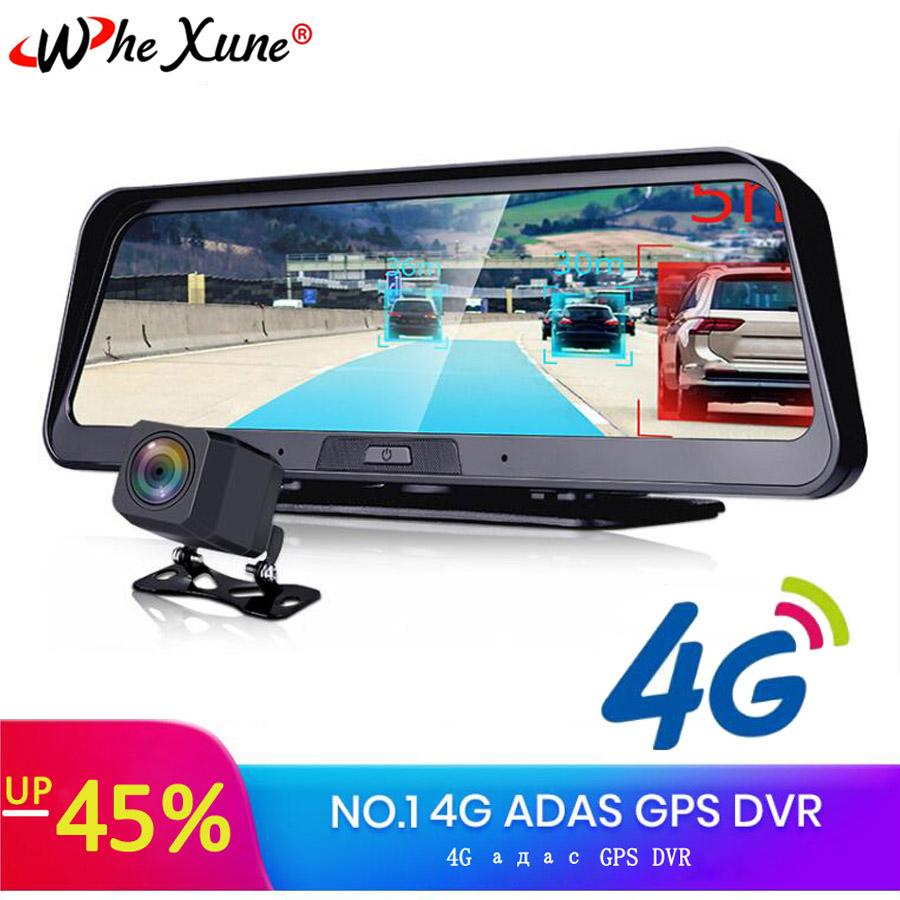 WHEXUNE 4G android dvr 10 inch screen car video camera gps navigation Full HD 1080P dash cam registrator recorder remote monitor car dvr