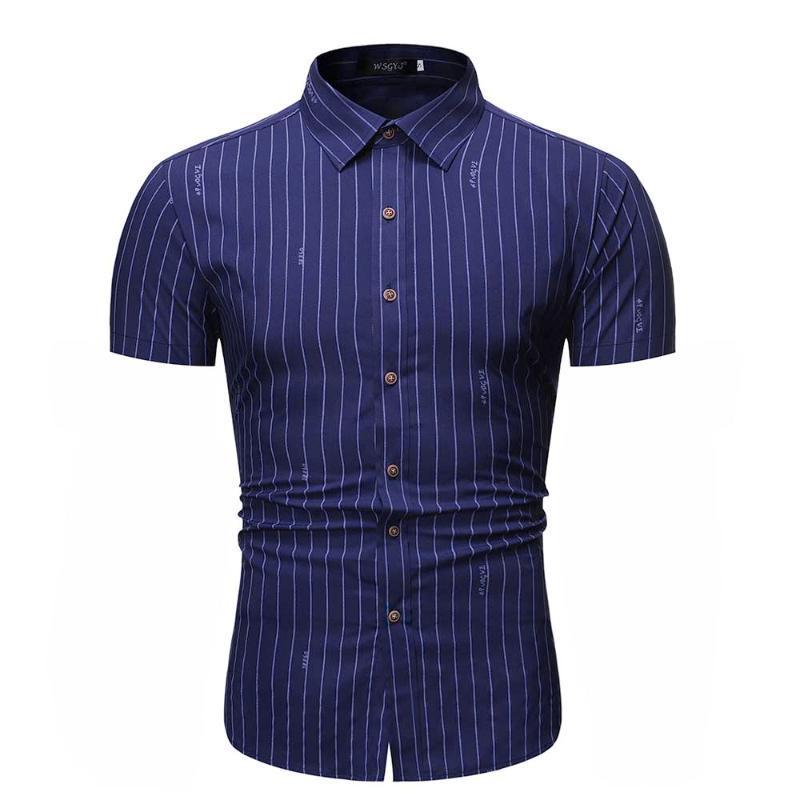 Shirt Men Fashion Print Short Sleeve Blouse Male Hawaiian Style Loose Shirts Summer New Arrival 2020
