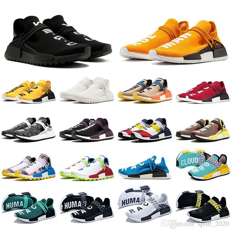 Con Zapatos Calcetines Race mejor calidad humana de los hombres corrientes de las mujeres del amarillo anaranjado del empollón de triple negro pálido desnudos Igualdad deporte zapatillas de deporte al aire libre del zapato