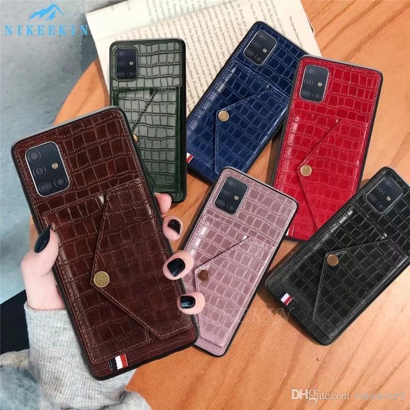 2020 Новый Крокодил Рельефный текстуры чехол для Samsung S20 Ультра S10 Note10 Plus для iphone 11Pro макс хт 7 8 плюс кожаный бумажник крышки тина