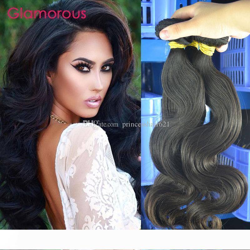 Göz Alıcı İyi Kalite Virgin Malezya İnsan Saç 3 Paketler Dalgalı Saç Uzantıları Ham İşlenmemiş Brezilyalı Hint Perulu Remy saç örgüleri