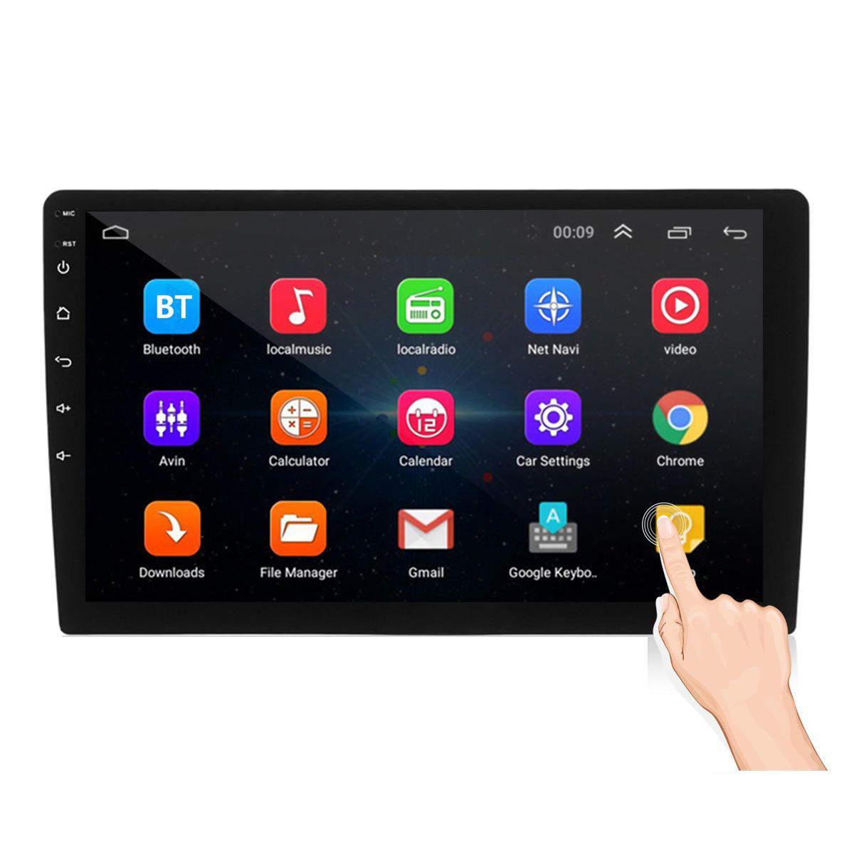 iMars 10.1inch 2DIN Android için 8.1 Araç MP5 Çalar 1 + 16G IPS 2.5D Dokunmatik Ekran Stereo Radyo GPS WIFI FM