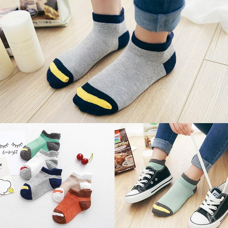 10шт / много Весна Лето детских носков сетки хлопчатобумажных носки для мальчика полосатого Твердой Wazi для детей для девочек Детского спортивных носков