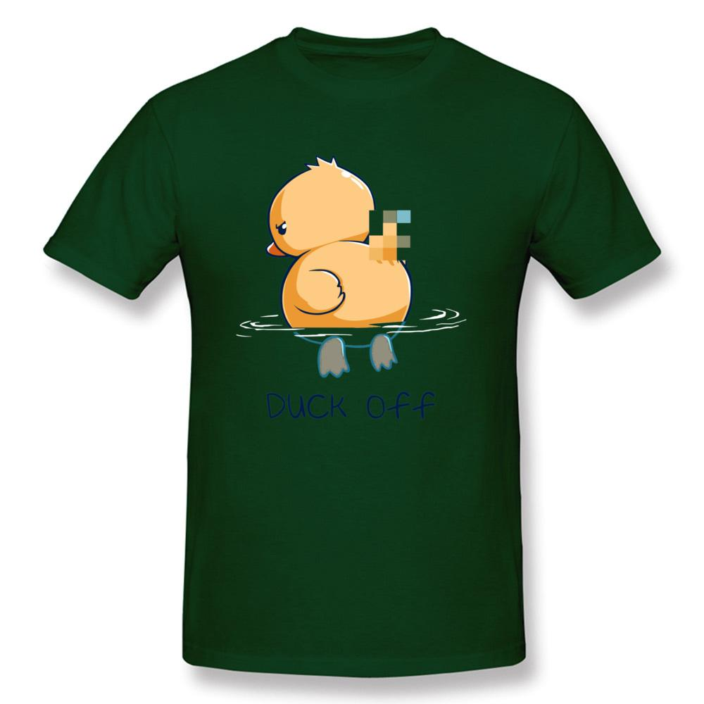 Duck Off T-shirt For Men Hip Hop Tshirt Summer Green Funny T Shirts Cartoon Print Tops O Neck Tees Plus Size Weeknd Clothing