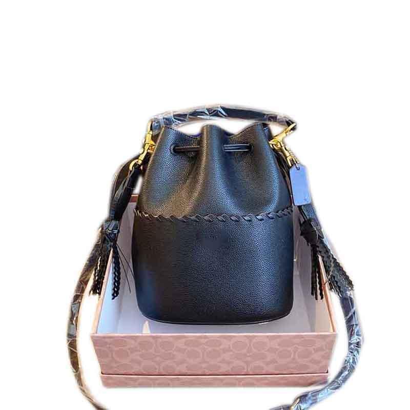 المرأة فاخر مصمم حقيبة يد محفظة شخصية الكتف حقيبة جلدية مصمم الأزياء حقيبة، دلو الشكل، لون الحلوى، معCoach صندوق