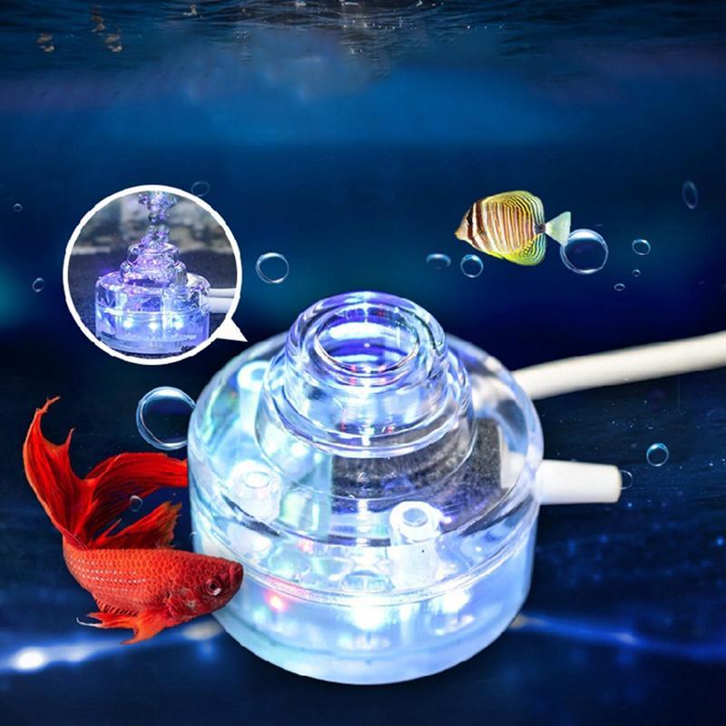 7colors impermeabile LED multi colore Fish Tank lampada sommergibili Mini acquario Luci Bubble illuminazione aerazione subacquea
