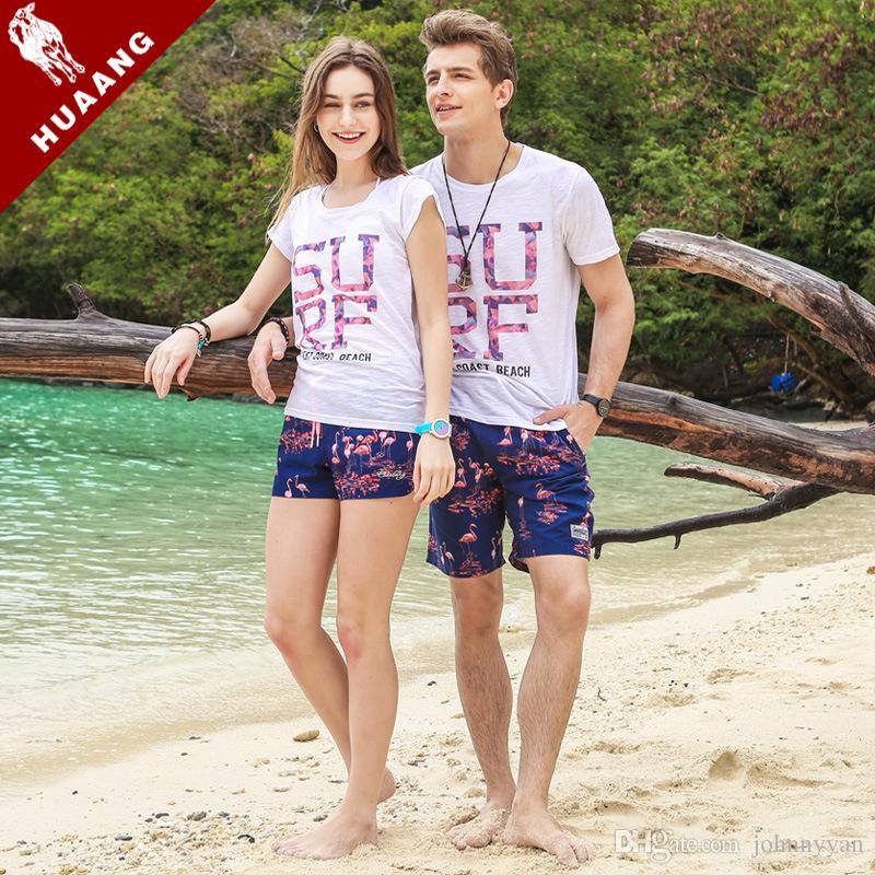 Brand Lovers Beach Shorts Board Boxer Trunks Shorts Quick Drying Men Boardshorts Couples Fashion Men Swimwear Swimsuits GMA1101