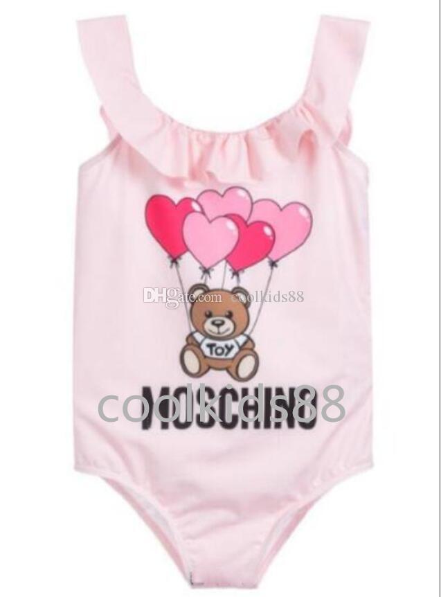 الفتيات مصمم الاطفال قطعة واحدة ملابس السباحة الفتيات ملابس السباحة 2020 الأطفال ملابس السباحة السباحة لطيف طفل الاستحمام الدعوى الاطفال حللا