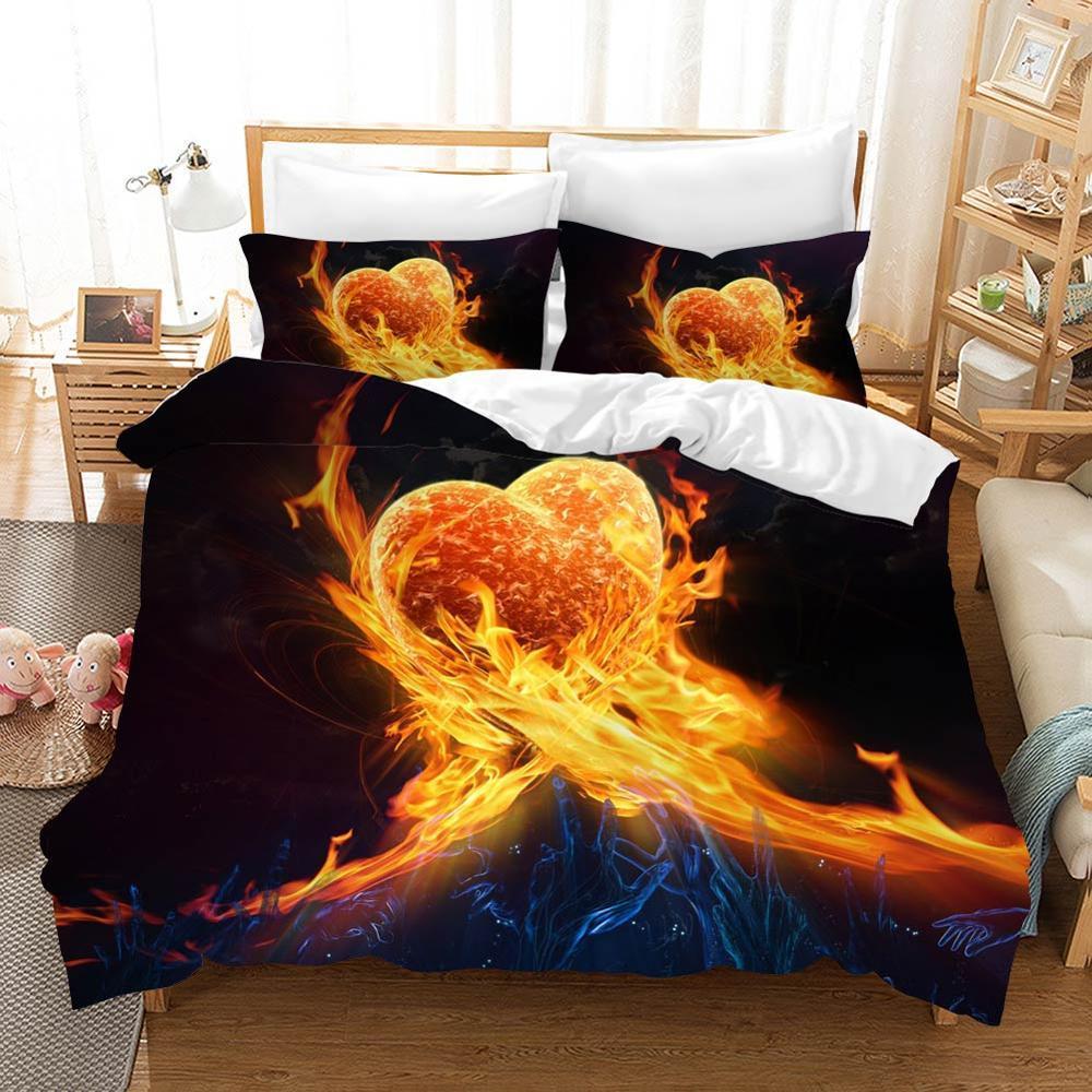 Punk Skull Bedding Set Luxury Bed Linen Poplin Couple Bed Sheet Duvet Cover Sets Euro Kids Comforters Twin Quilt Overtrek Linen