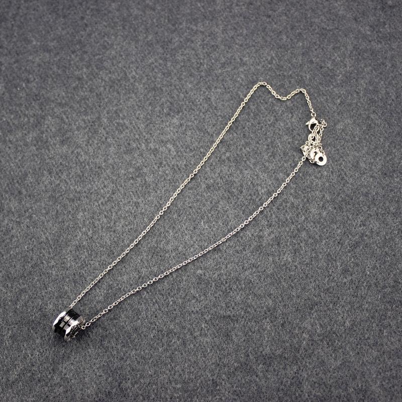 Урожай Керамика Кольцо женщины ожерелье 925 серебряные цепи Длинные ожерелья Классический ювелирный