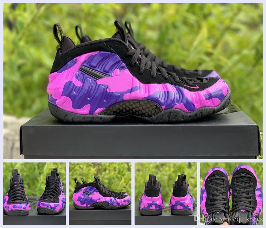Дешевая Хардуэй баскетбол обувь фиолетовых камуфляжная Мужская обувь на открытом воздух Mens высокого качества новой горячая продажа про Foam один Спортивную обувь size7-13