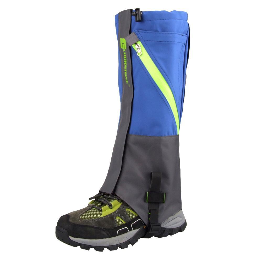 Nouveau 2Pcs extérieur 2 couches imperméables randonnée Camping neige jambe guêtres pour l'extérieur Skate Ski marche Shin Leg protection du matériel