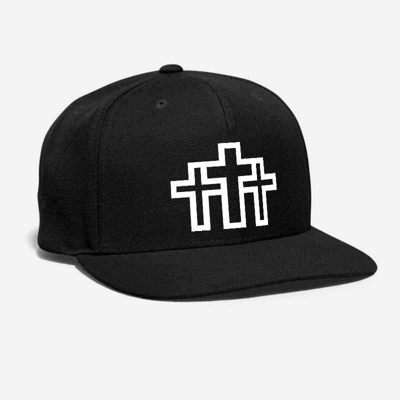 Jesus cross - Christian ricamato personalizzato Dio Cristo, ritiene pio, versetto della bibbia di natale unisex cappello Snapback Adjustable