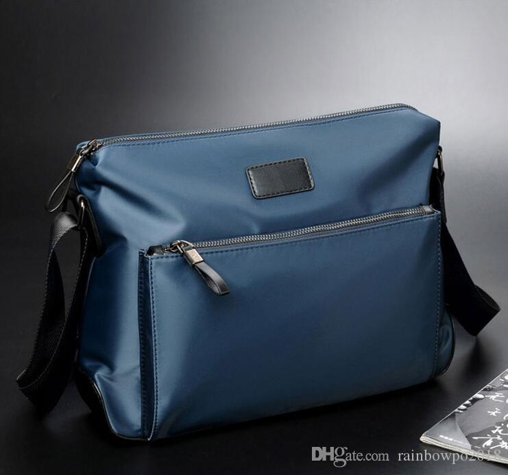 wholesale men handbag new white leather fashion shoulder bag waterproof Oxford cloth men messenger bag street fashion Oxford cloth fashion b