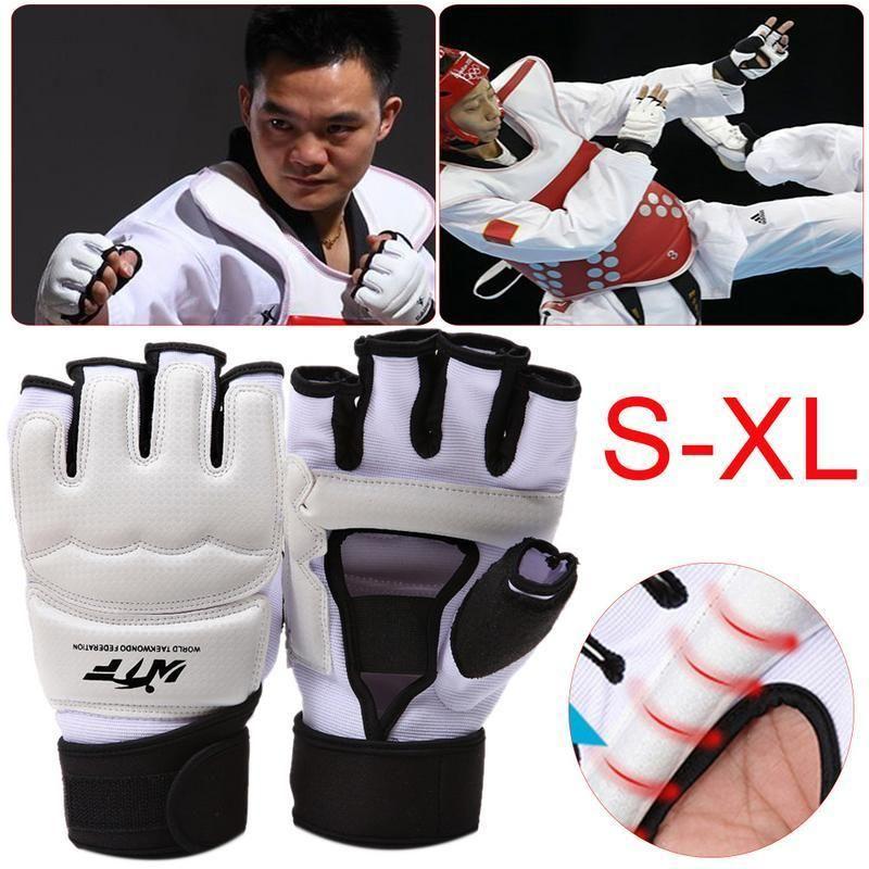 Kinder Erwachsene Taekwondo Half Finger Boxhandschuhe Sandsack Trainingshandschuhe Sanda Karate Muay Taekwondo Beschützer