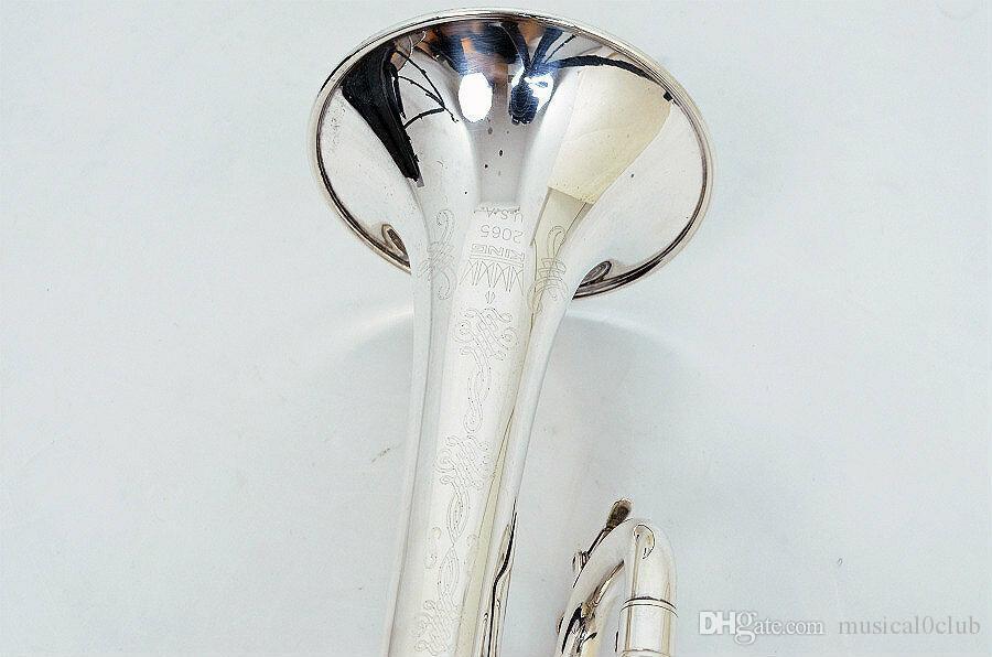 Yeni Trompet Pro King TP 2065 SP Trompet B Düz Üst Müzik Aletleri + Mavi Kılıf