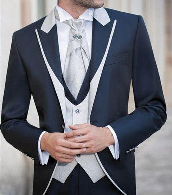 Solovedress Fit Meilleur Costume Homme 3 Pièces Mariage / Costumes Homme Costumes Marié Tuxedos Costumes Slim (Veste + Pantalon + Gilet)