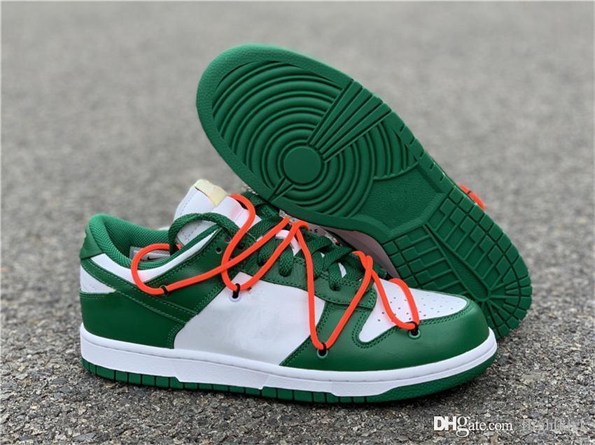 Mit Box x Futura Sb Dunks Low OFF Freizeitschuhe Damen Herren Designer, Grün, Orange, Blau, Weiß Dunks des Chaussures Taquets Schuhe