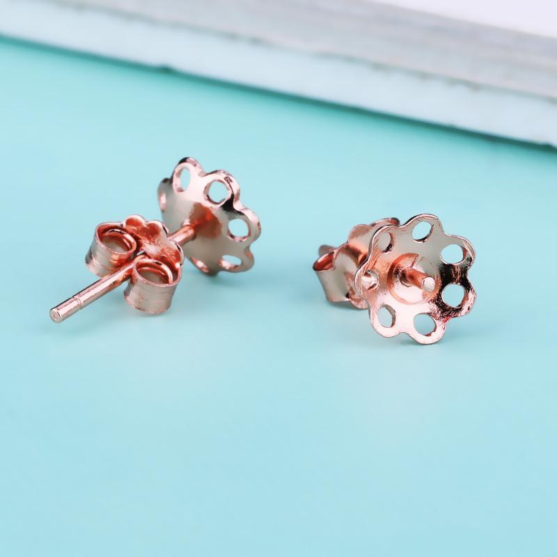 Sterling Silver 925 Women Stud Earrings Classic Semi Mount Earrings Setting fit 7-12mm Round Bead or Pearl Fine Jewelry