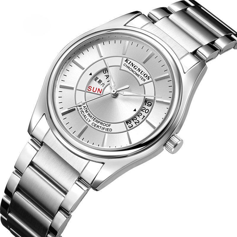 Свободное время Человек Стали принести наручные часы Календарь трендов Водонепроницаемые наручные часы наручные часы